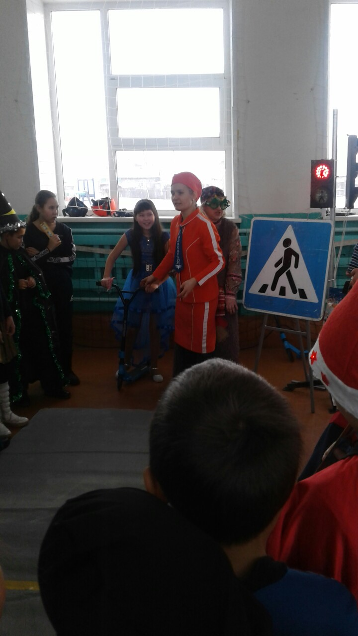 Новогодняя ПДД-ка прошла  в Усть-Чу́ле Аскизского района