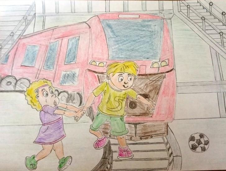 Итоги республиканского конкурса рисунков  «Осторожно, поезд!»