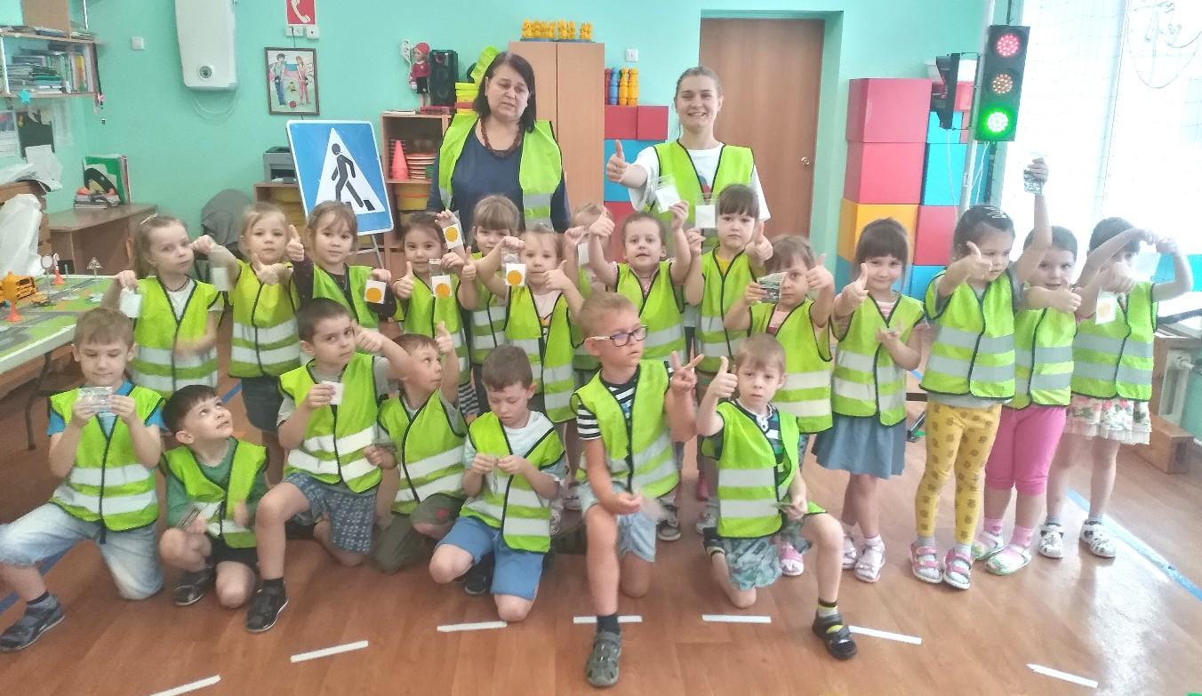 Прошла акция «Невидимкой быть опасно» в детском саду «Машенька» г. Абакан